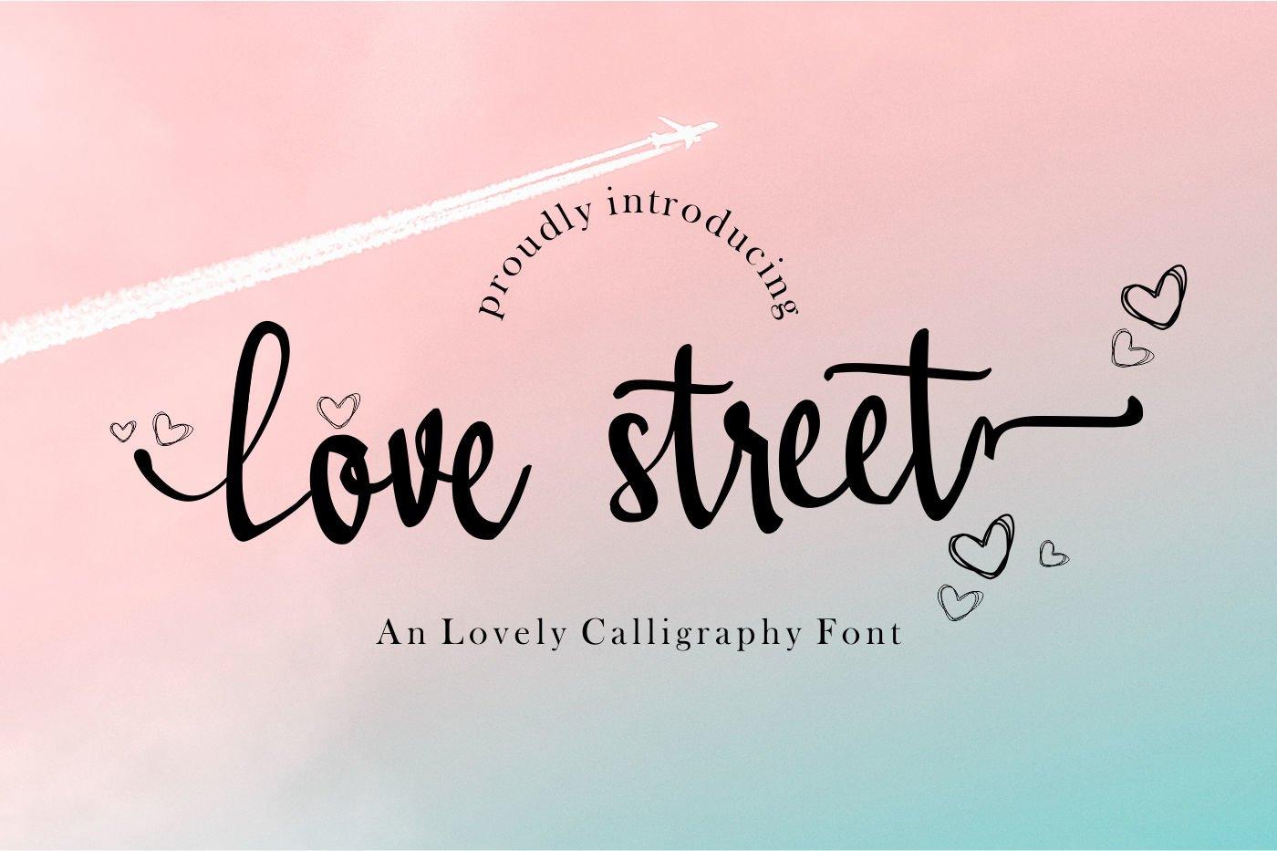 Lovestreet modern calligraphy font example image 2