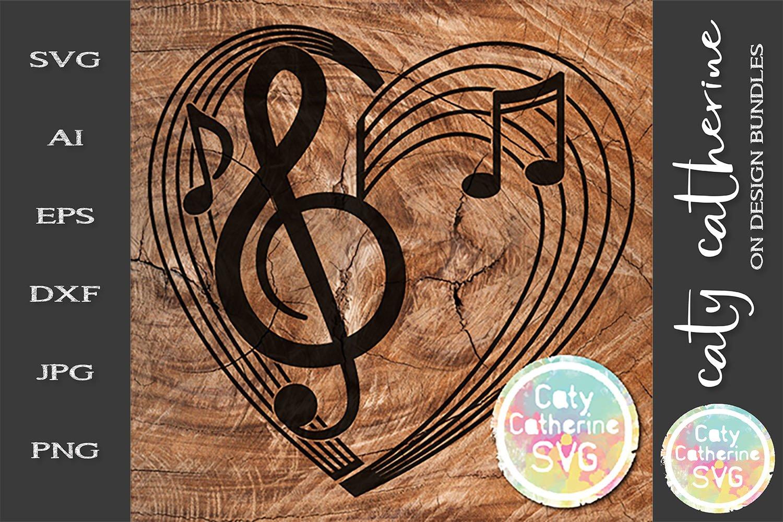 Download Musical Notation Music Notes Love Heart Svg Cut File 255630 Svgs Design Bundles