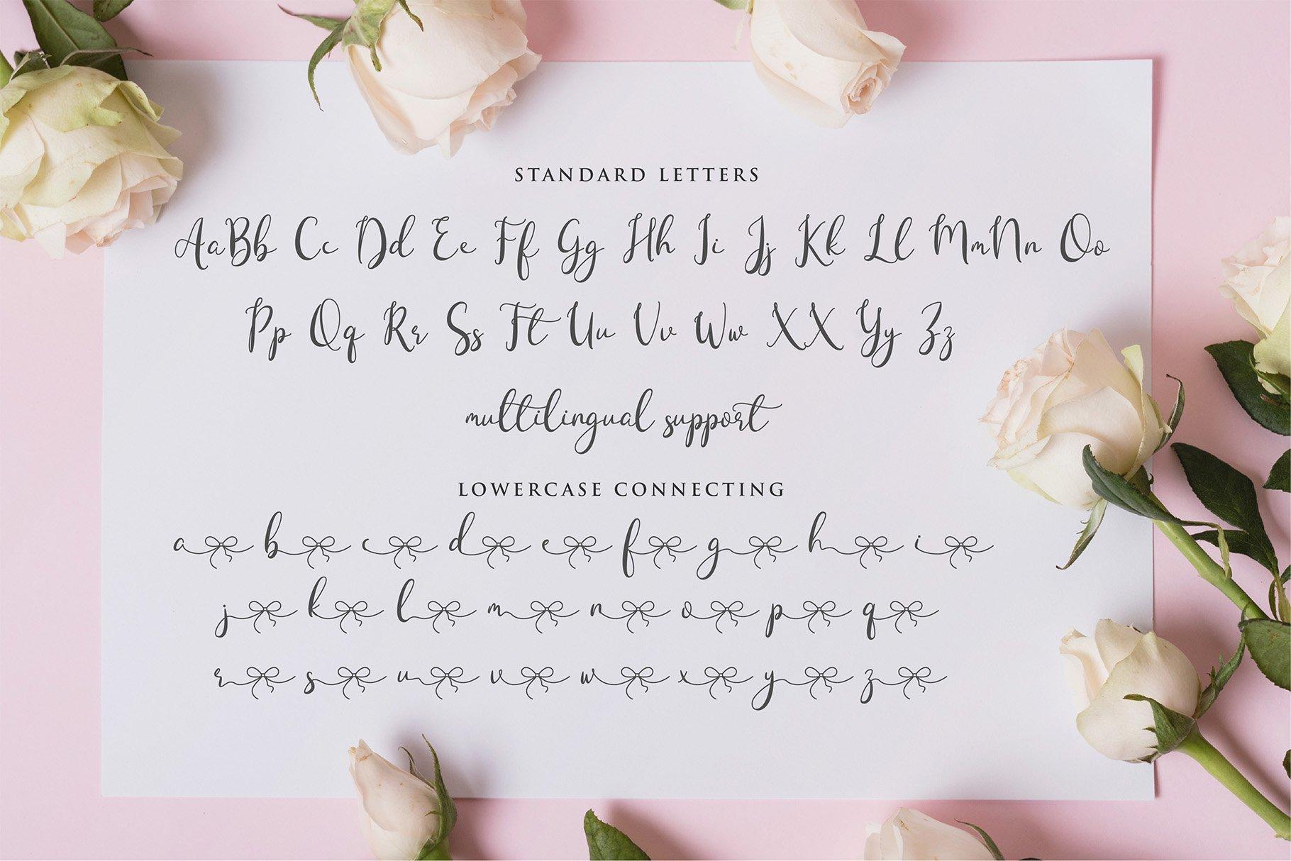 Lovestory - Romantic Font example image 5