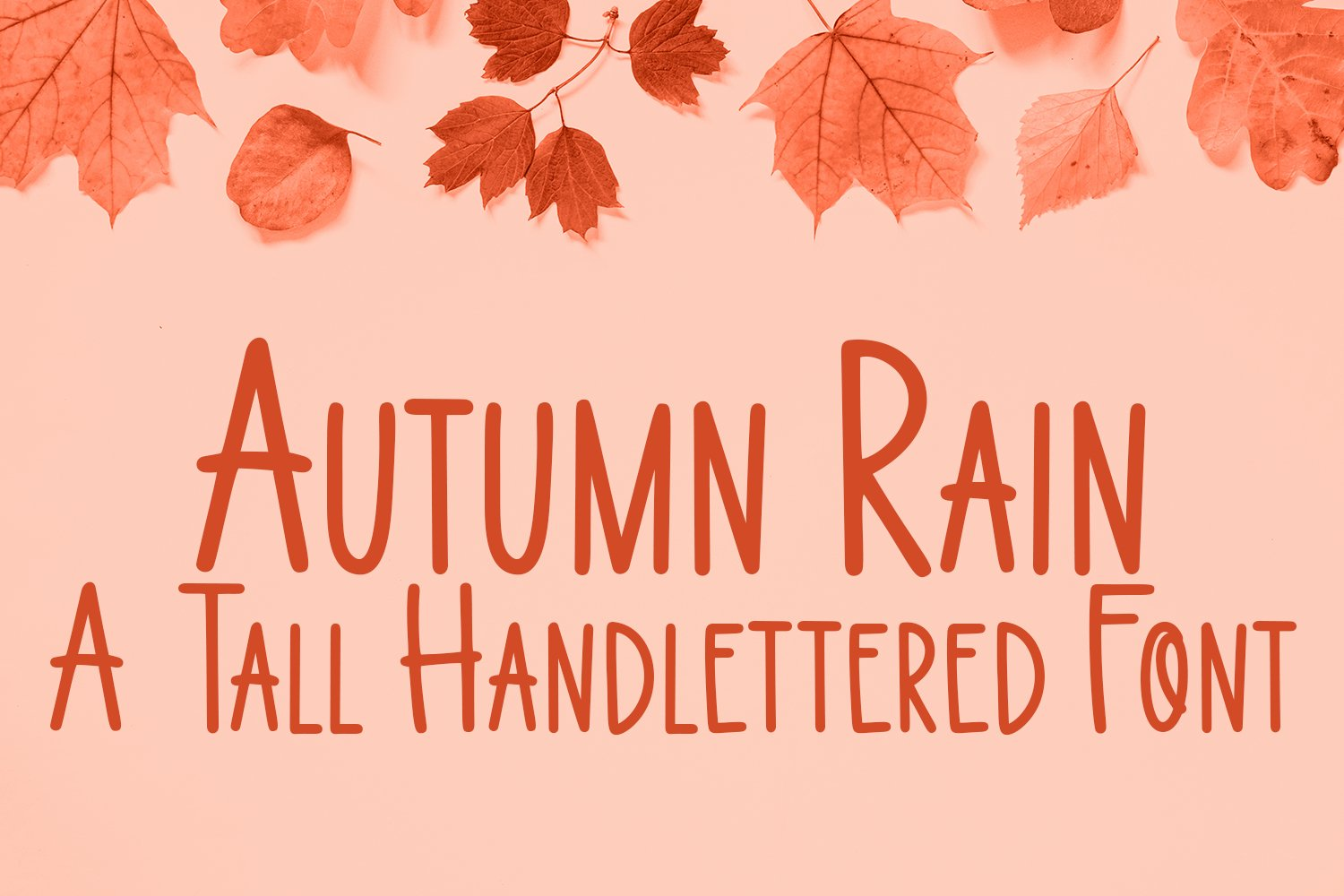 Autumn Rain - A Tall Hand-Lettered Font example image 1