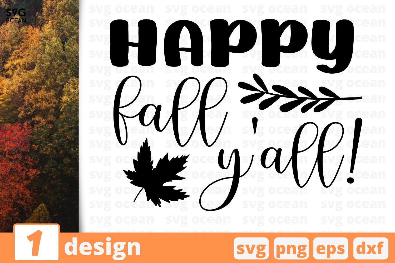 Happy Fall Y All Svg Cut File Fall Cricut Family Quote 814119 Cut Files Design Bundles