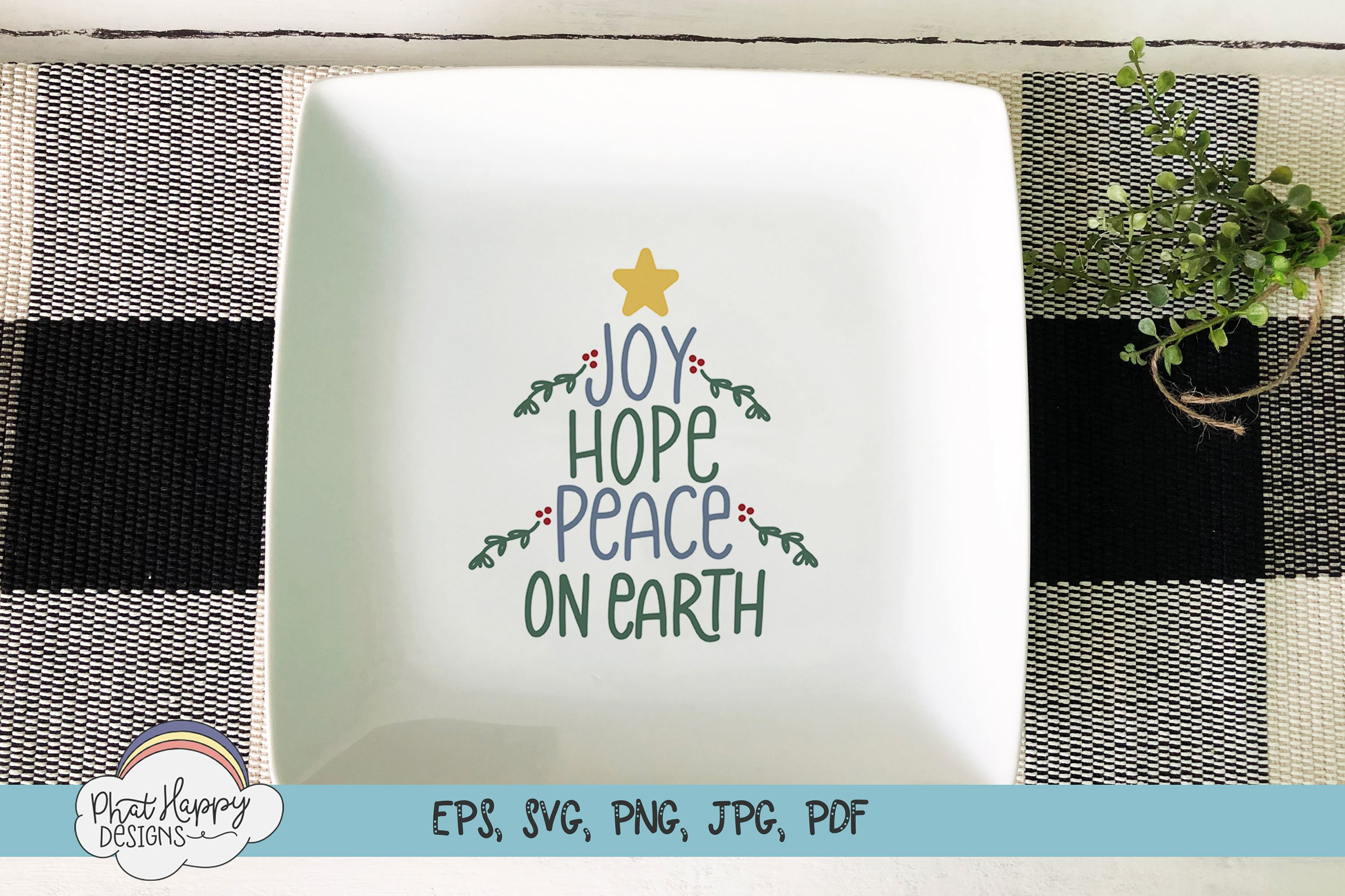 Peace on Earth - Hand Lettered Christmas SVG example image 3