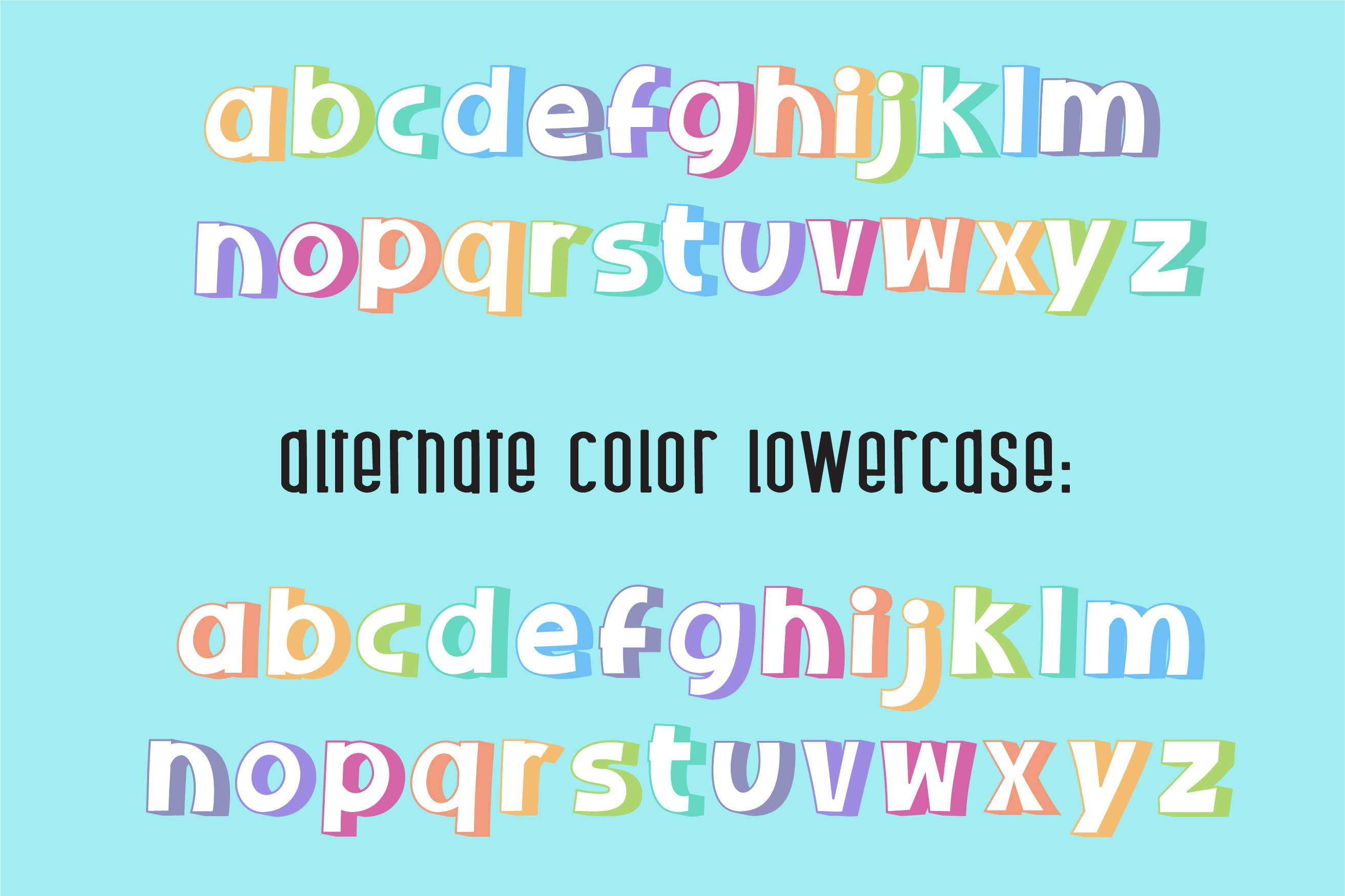 Sherbet Shadow SVG Font Duo example image 5