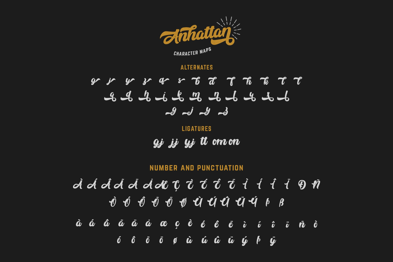 Anhattan - Retro Bold Script Font example image 14
