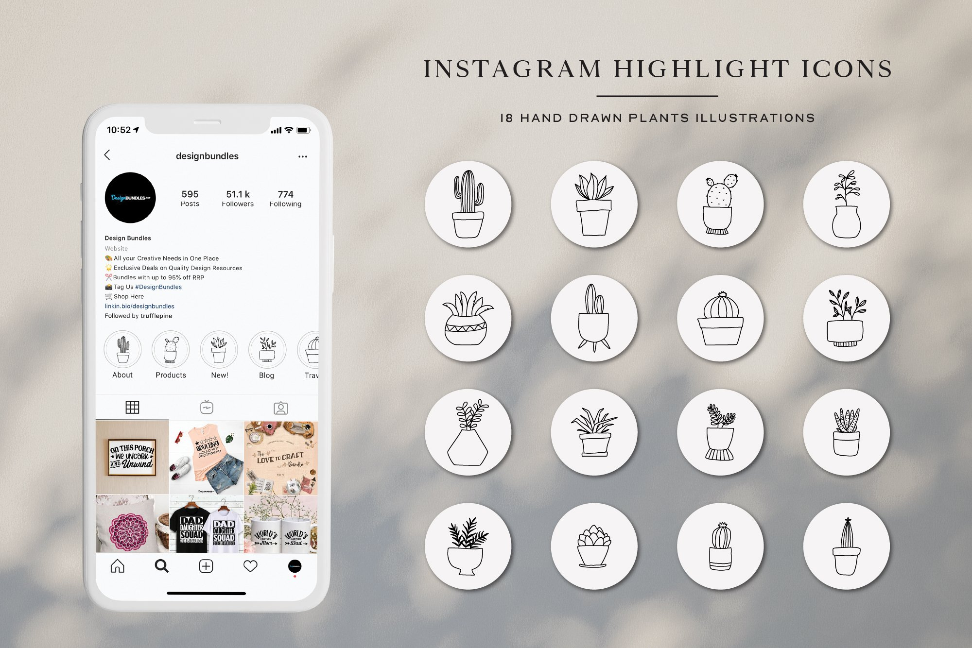 Instagram Plant Highlights Icons | Instagram Story Cover example image 1