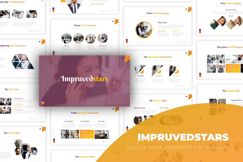 Impruvedstars - Google Slide Template example image 1