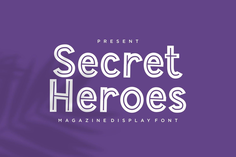 Secret Heroes - Magazine Display Font example image 1