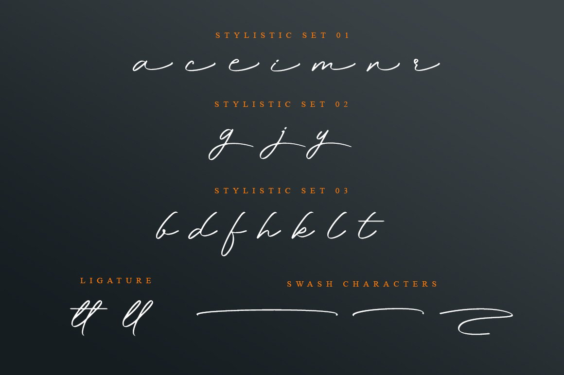 Magdallena - Signature Font example image 12