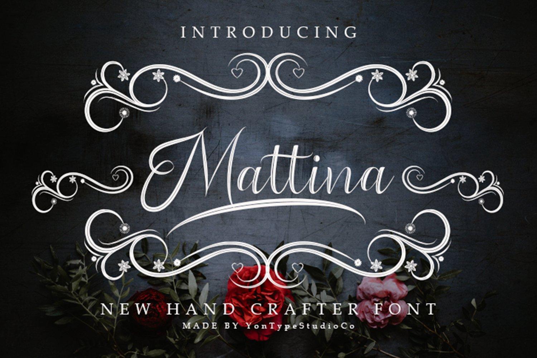 Mattina Font example image 11