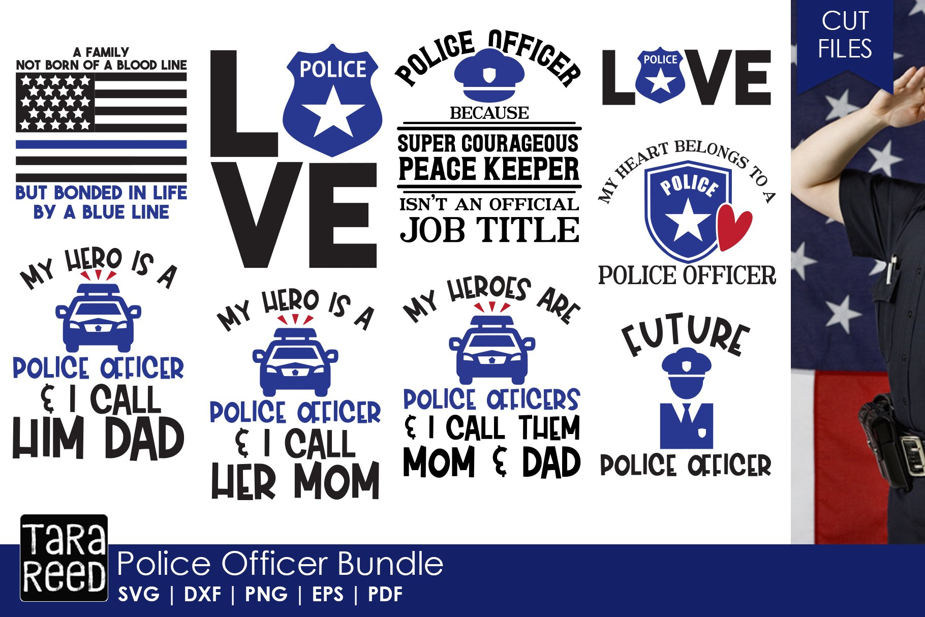 Download Police Officer Bundle 144012 Cut Files Design Bundles