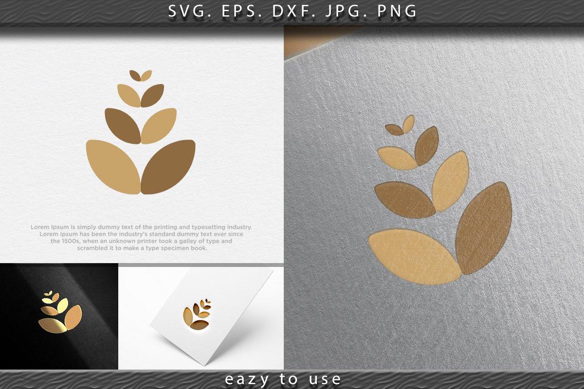 Agriculture Wheat Icon, logo Ideas. Inspiration logo design. example image 1