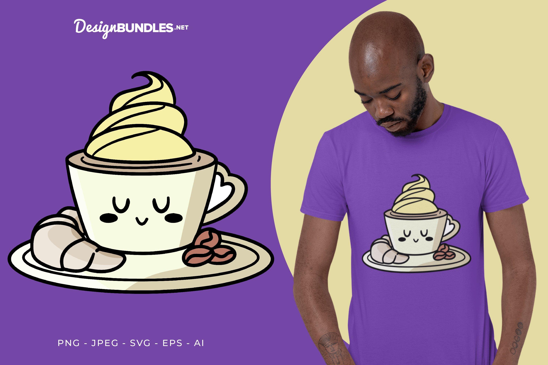 My Breakfast Vector Illustration For T-Shirt Design example image 1