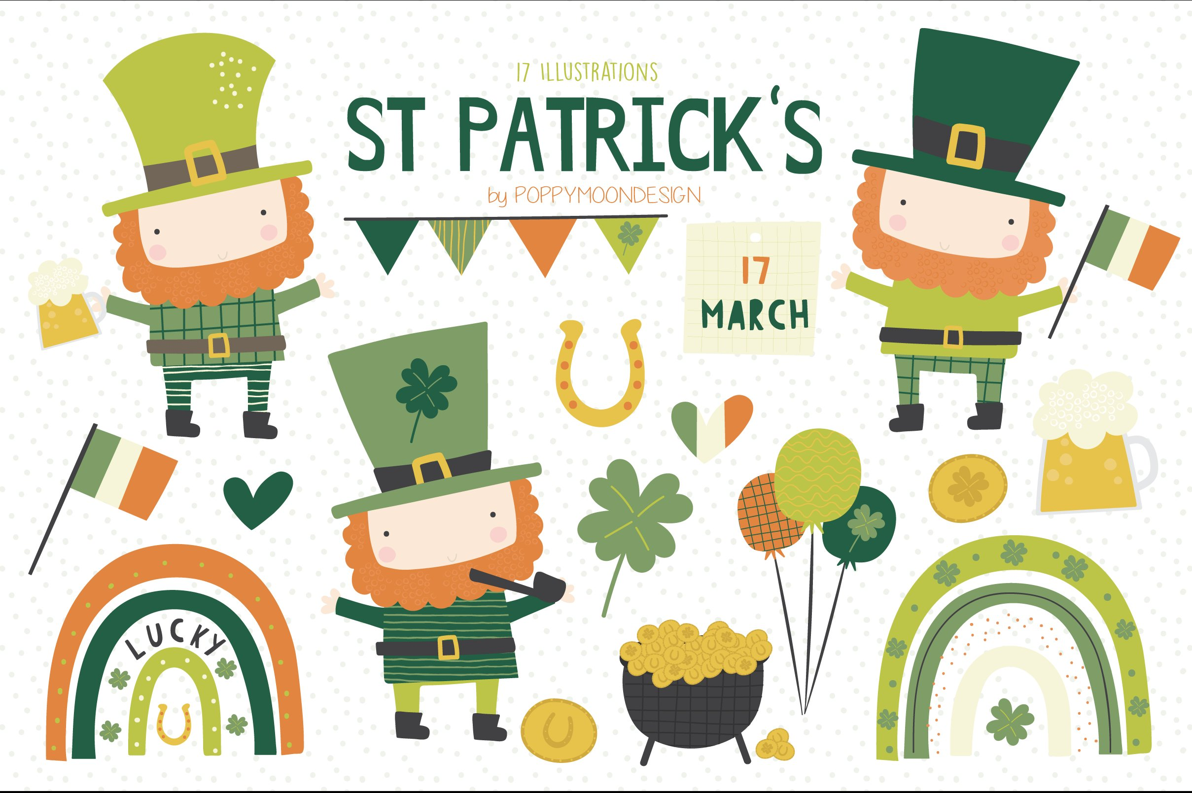St Pattys Day Sublimation Designs Downloads St Patrick/'s Day Horseshoe PNG Four Leaf Clover Clipart Horseshoe Clipart Tshirt Design