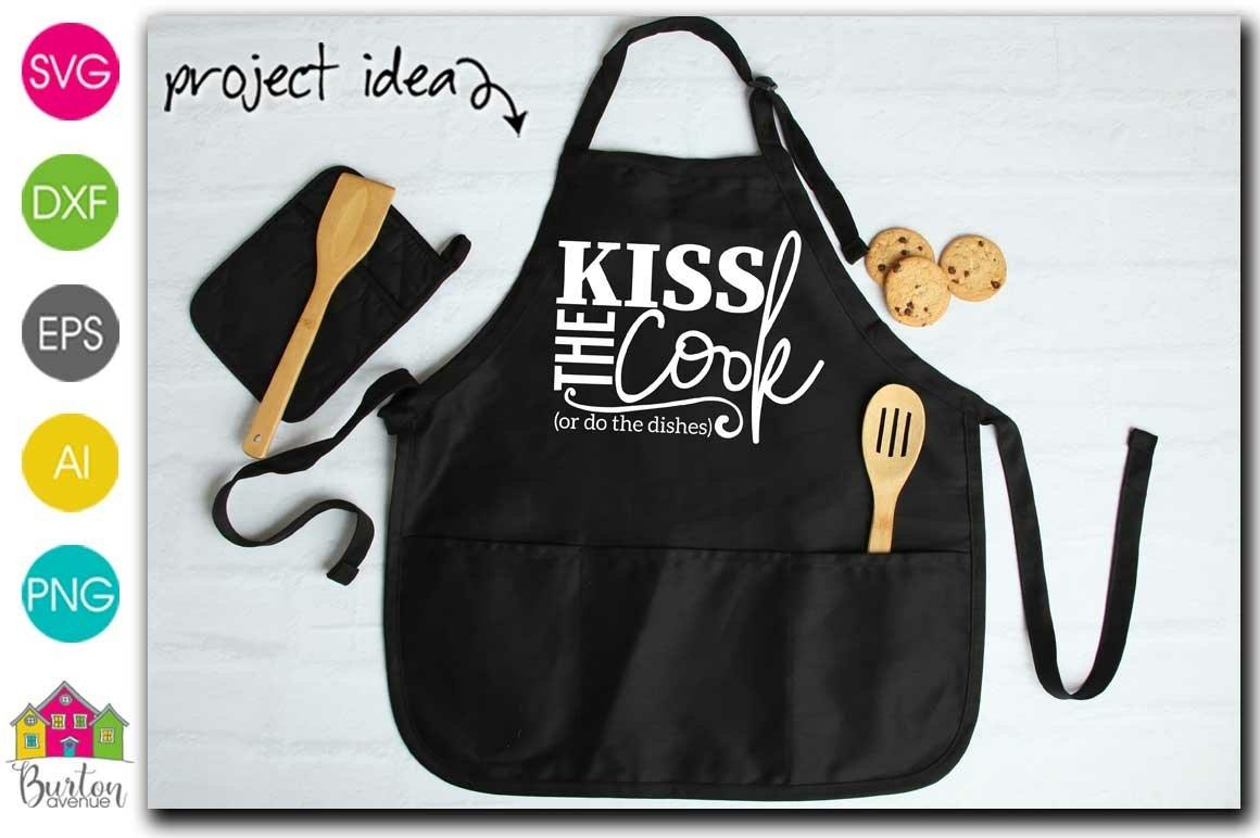 kitchen shirt print love eps love svg Kiss the cook SVG kitchen clip art kitchen svg commercial use kiss svg kitchen apron