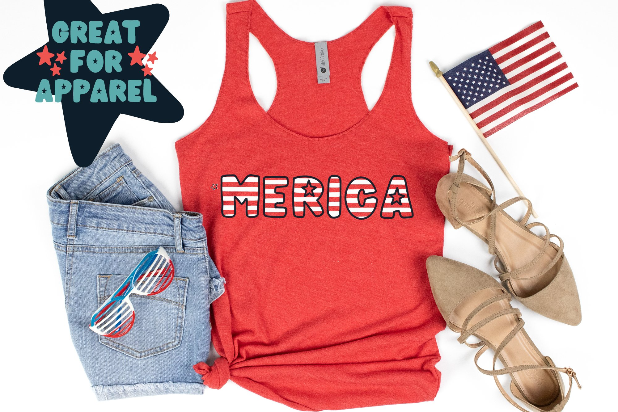 Meowica | A 4th of July Font Family example image 7