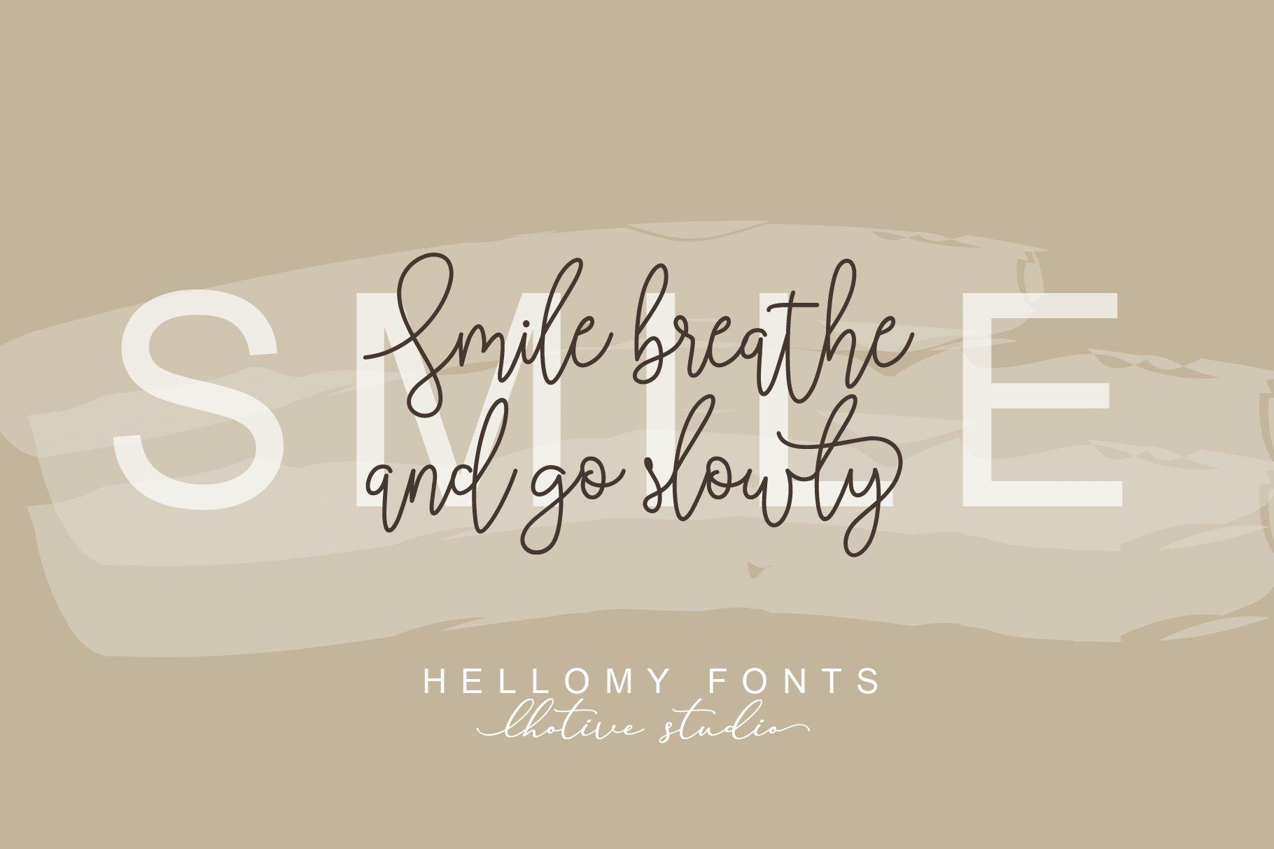 Hellomy Monoline Script example image 5