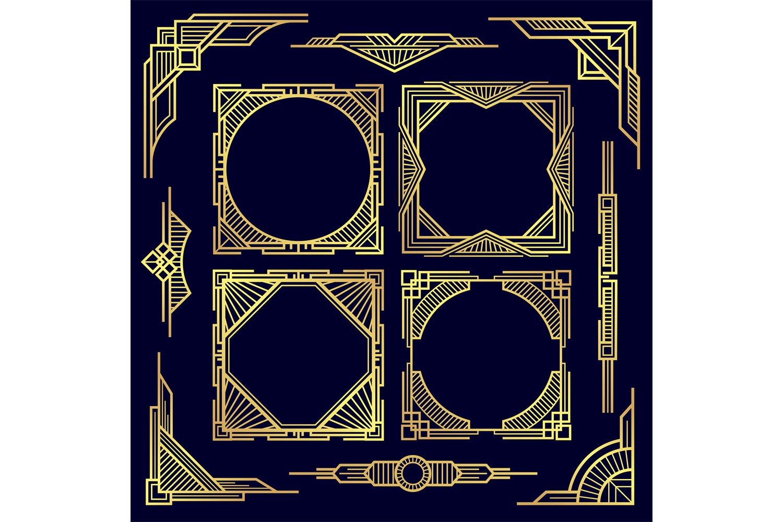 Download Classic Vintage Geometric Frames And Border 862764 Illustrations Design Bundles