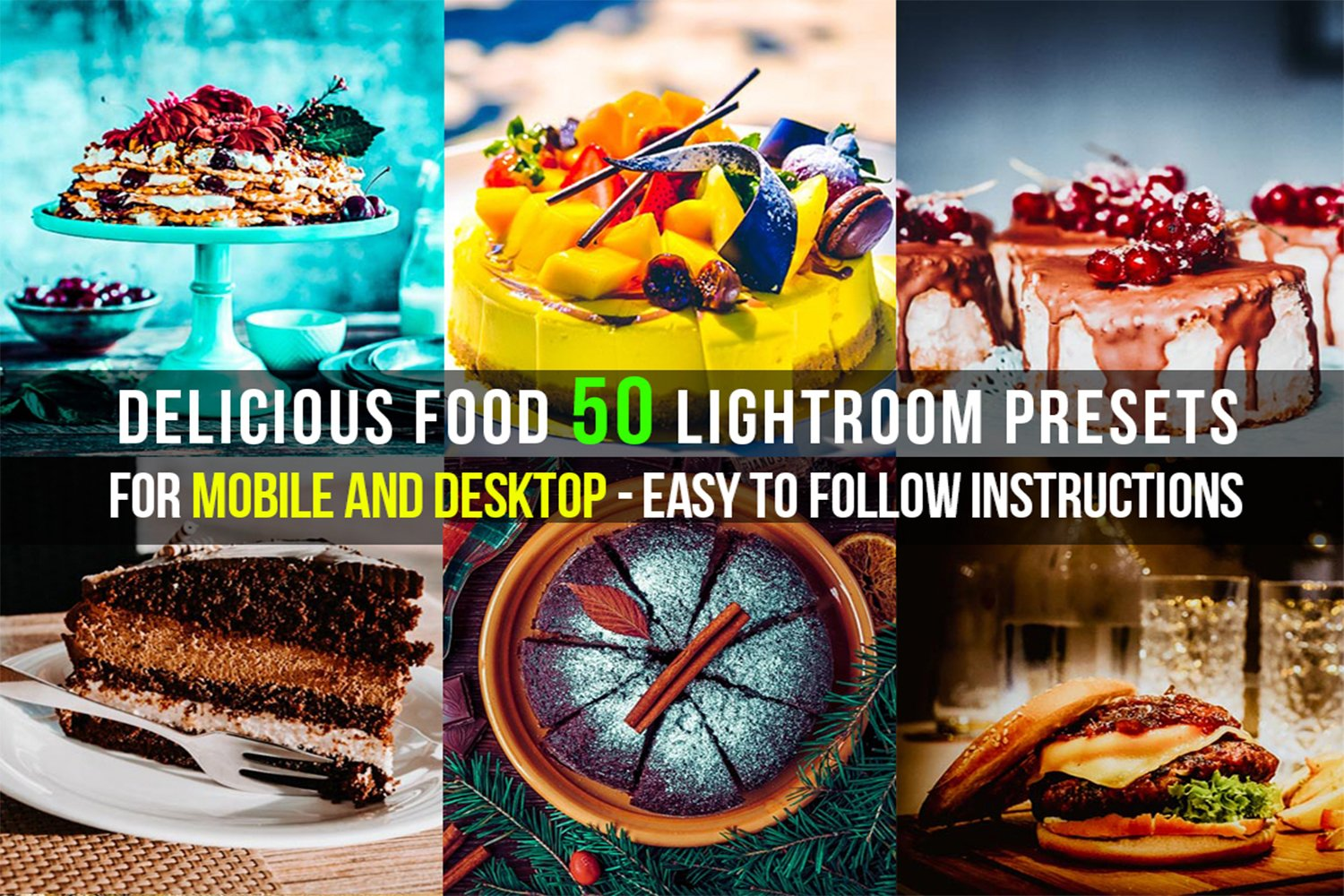 Delicious Food 50 Lightroom Presets example image 1