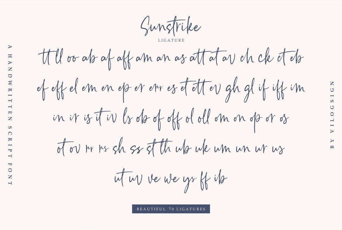 Sunstrike a Handwritten Script Font example image 9