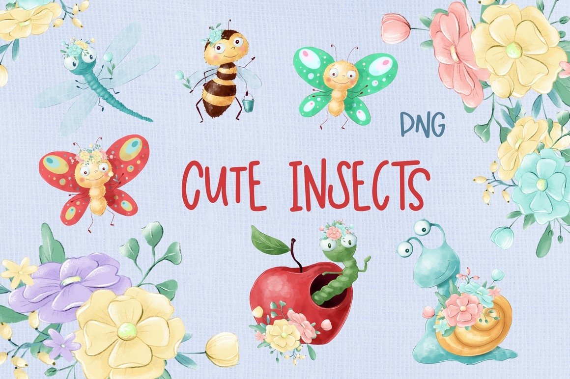 Cute Insects example image 1