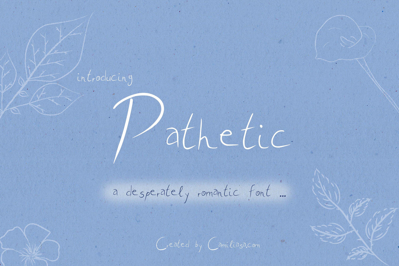 Pathetic - A nice romantic handwritten script font ! example image 1