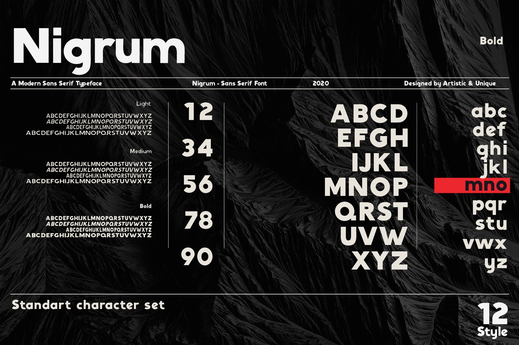 Nigrum - Sans Serif font Family example image 2