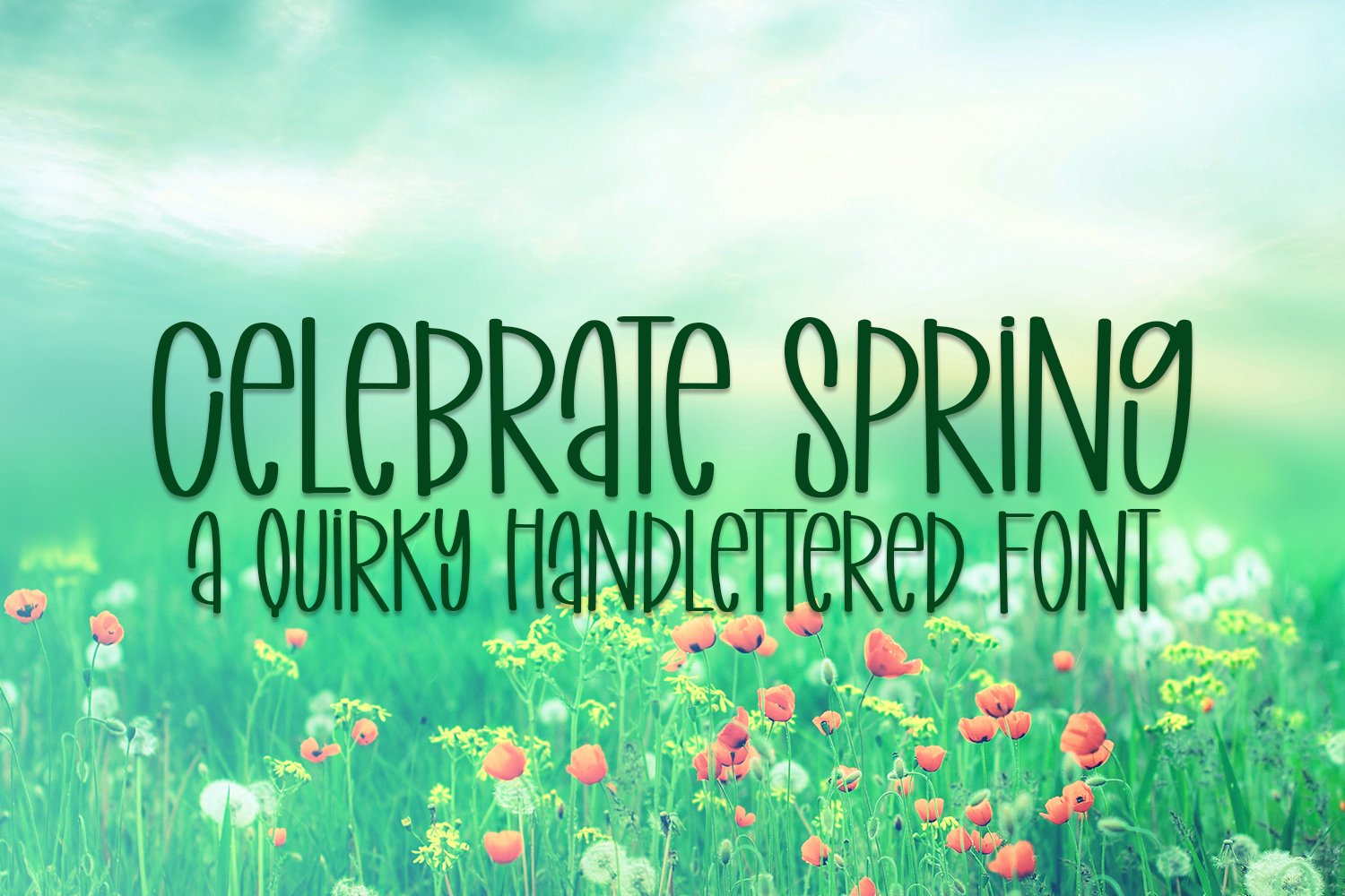 Celebrate Spring - A Quirky Handlettered Font example image 1