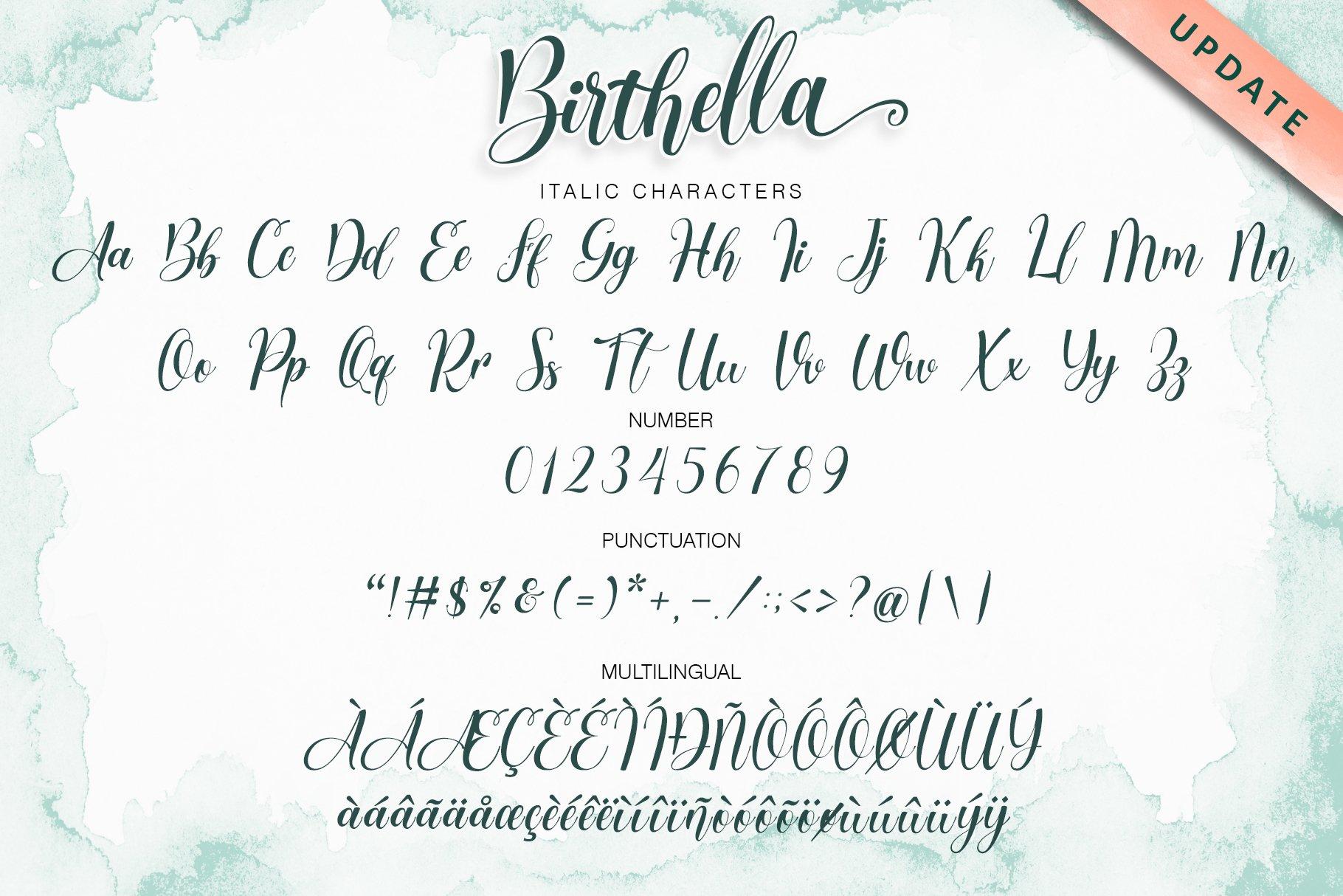 Birthella || Modern Calligraphy example image 12