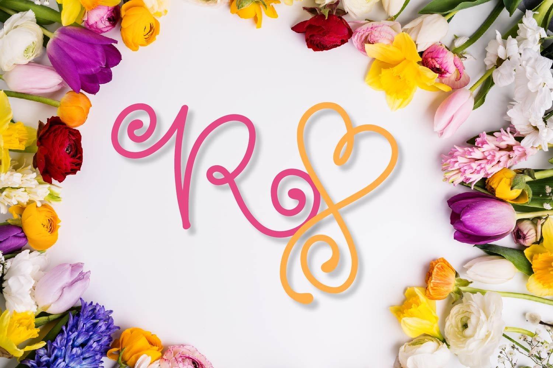 Swirly Monogram - With Swooshy Monoline Extras example image 6