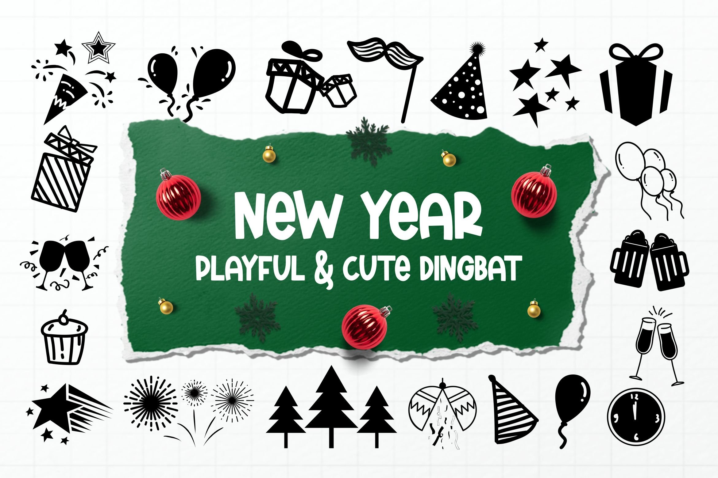 New Year Dingbats example image 1