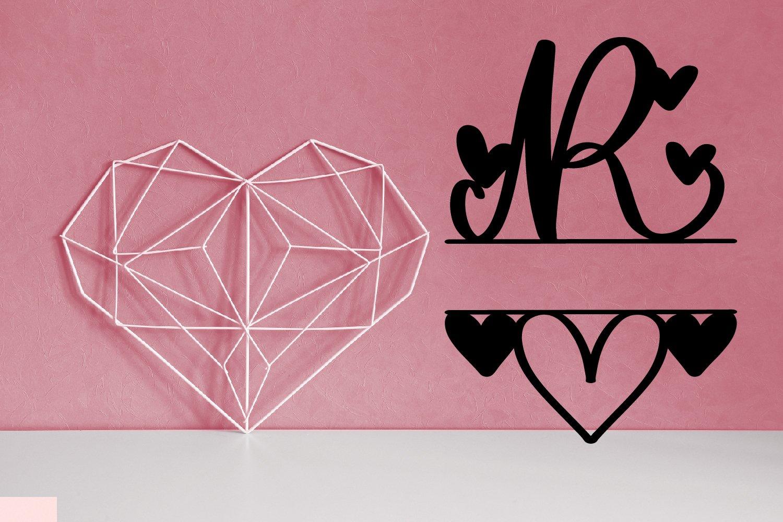 A Heart Split Monogram Font example image 2