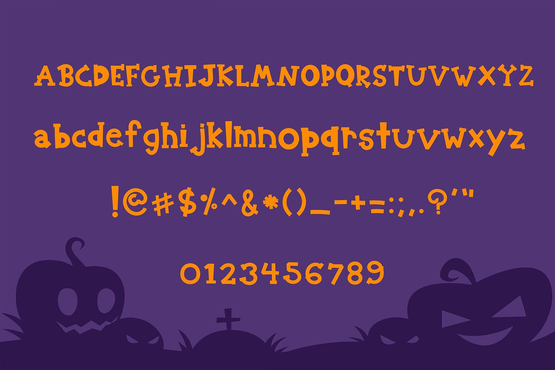 Halloween pumpkin Handwritten - cute kid font Kawaii style! example image 5