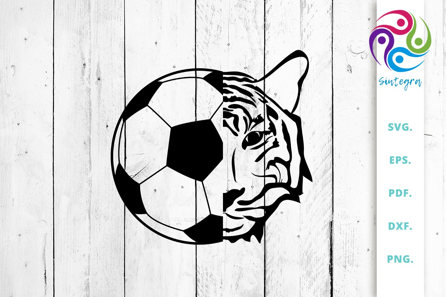 Soccer Football Ball With Tiger Face Svg Cut File 631721 Cut Files Design Bundles