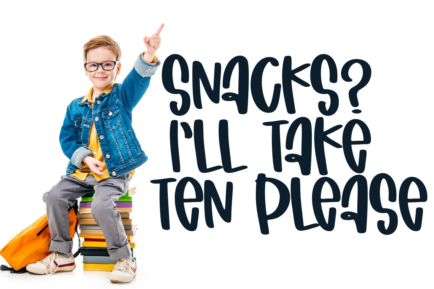 Tiny Snacker - A Quirky Marker Font example image 2