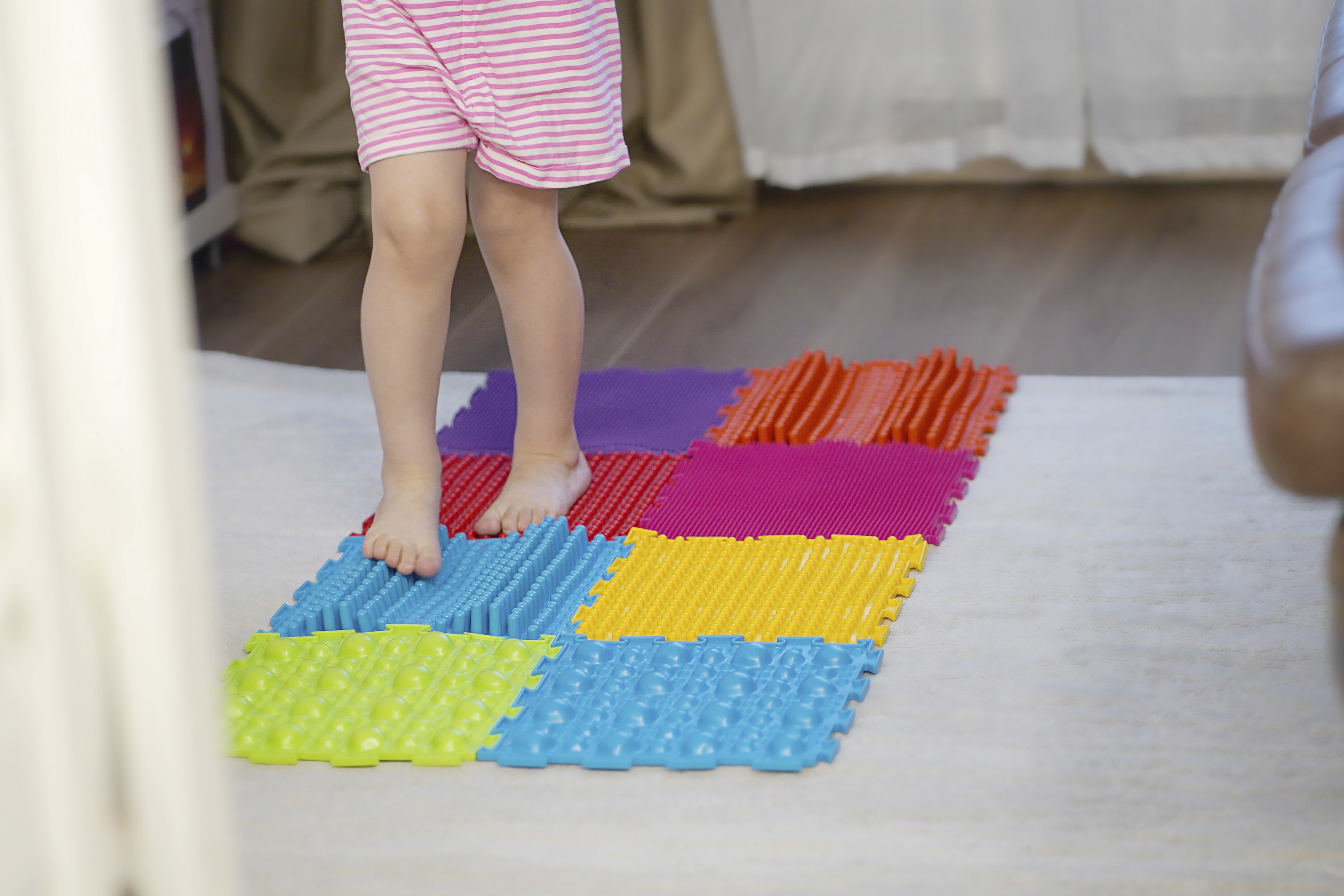 Orthopedic massage puzzle mats for development children example image 1