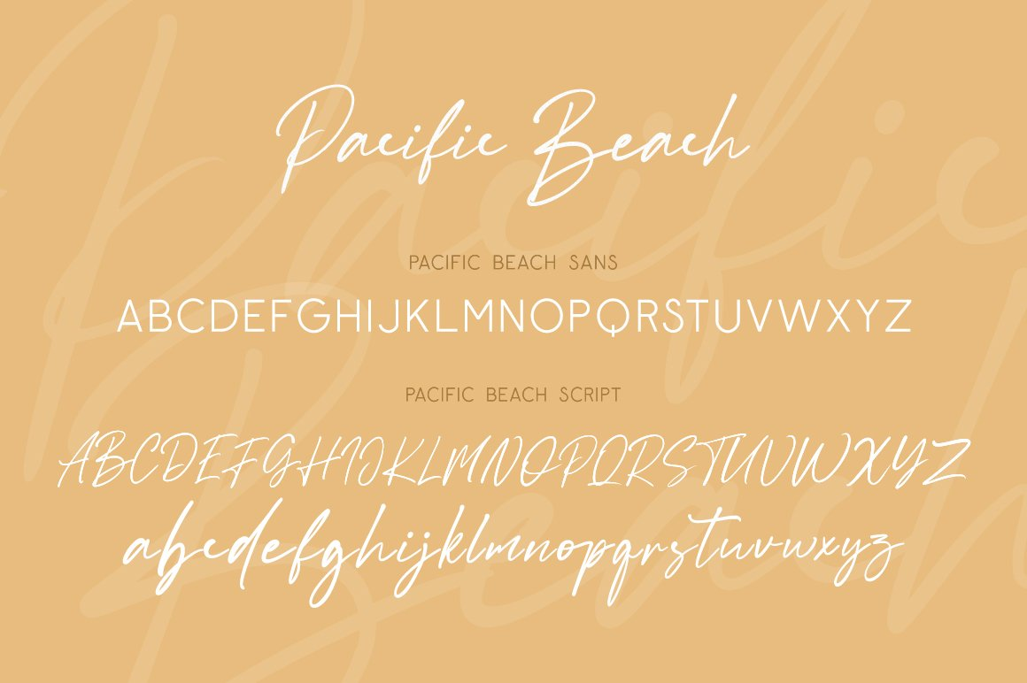 Pacific Beach Font Duo example image 2