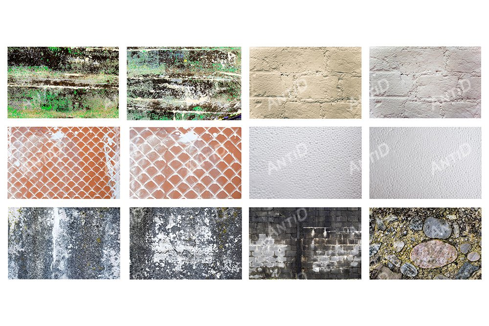 A set of 12 images. Building textures. example image 1