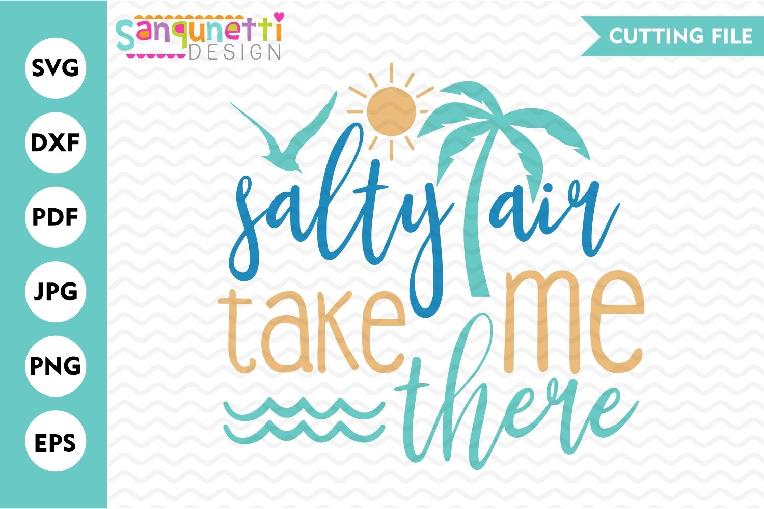 Salty air take me there SVG, beach svg, summer cutting file example image 1