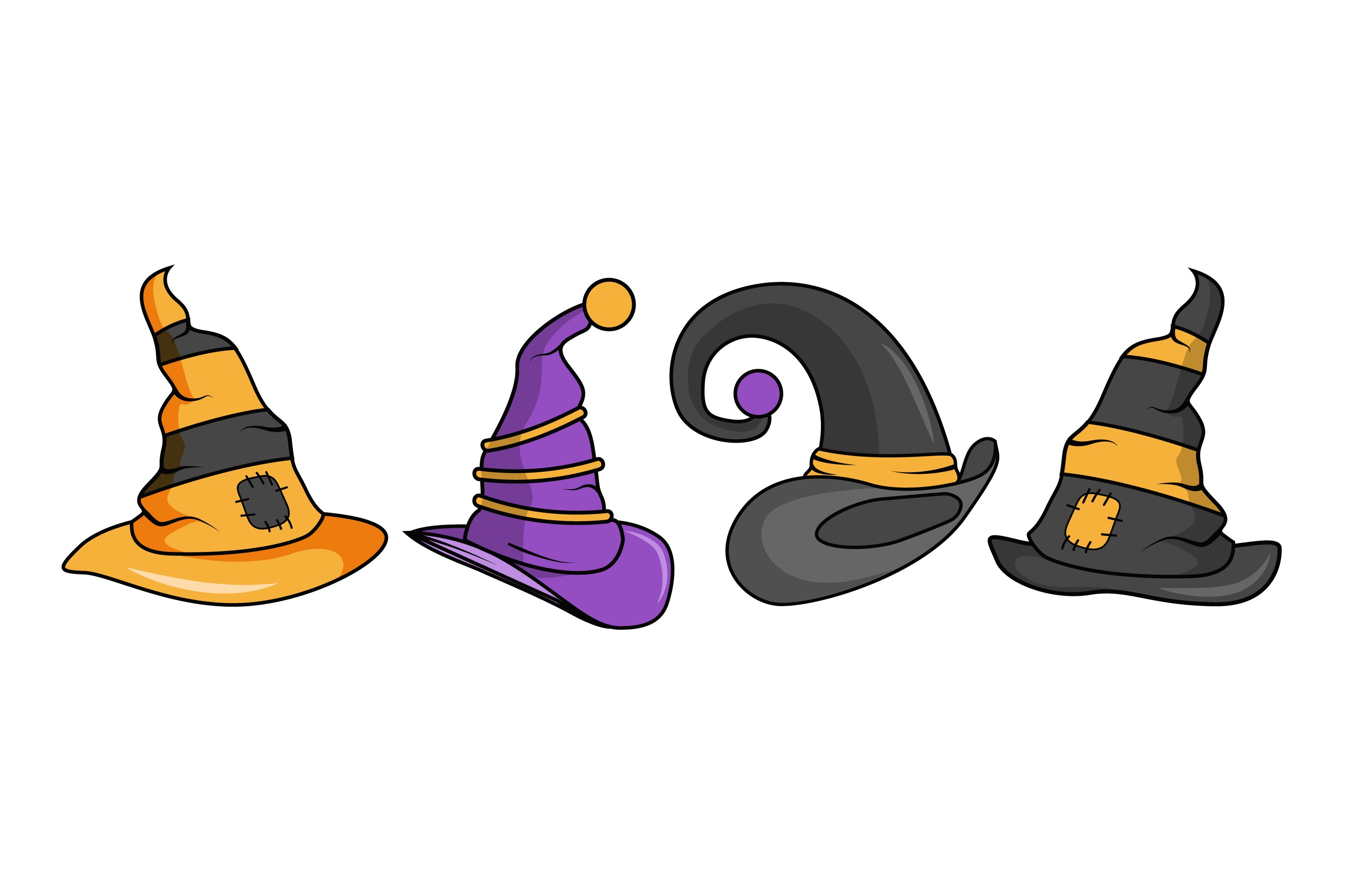 Witch Hat illustrations example image 1