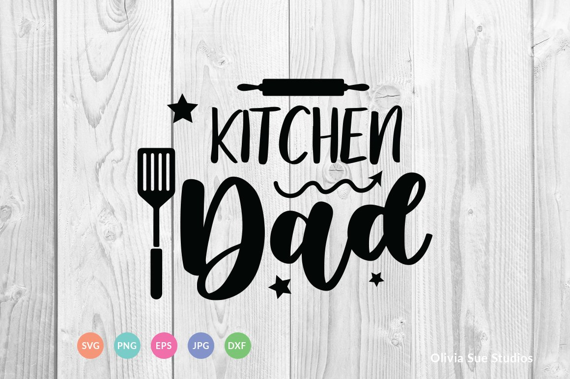 Kitchen Dad SVG Cut File example image 1