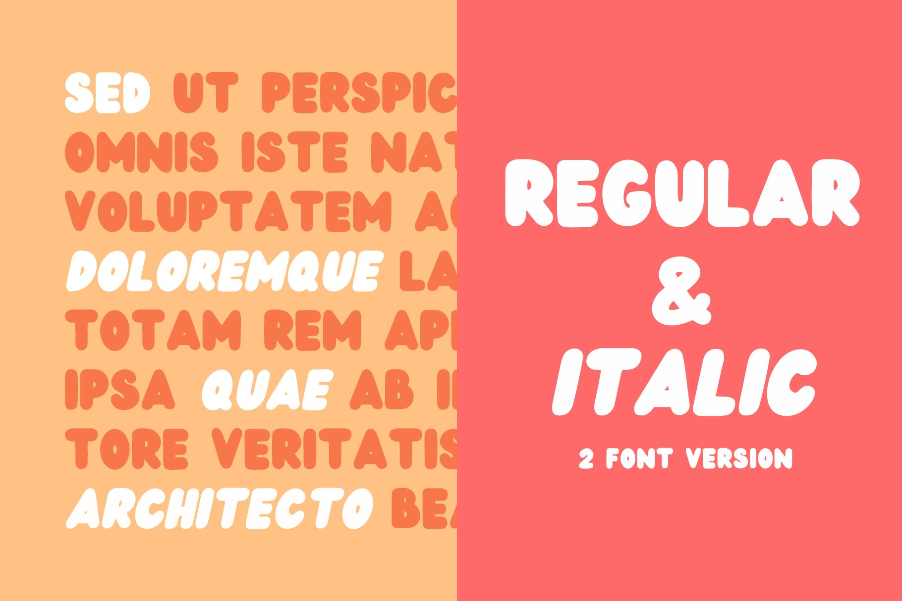 Wedges - Fun Rounded Weight Font example image 2