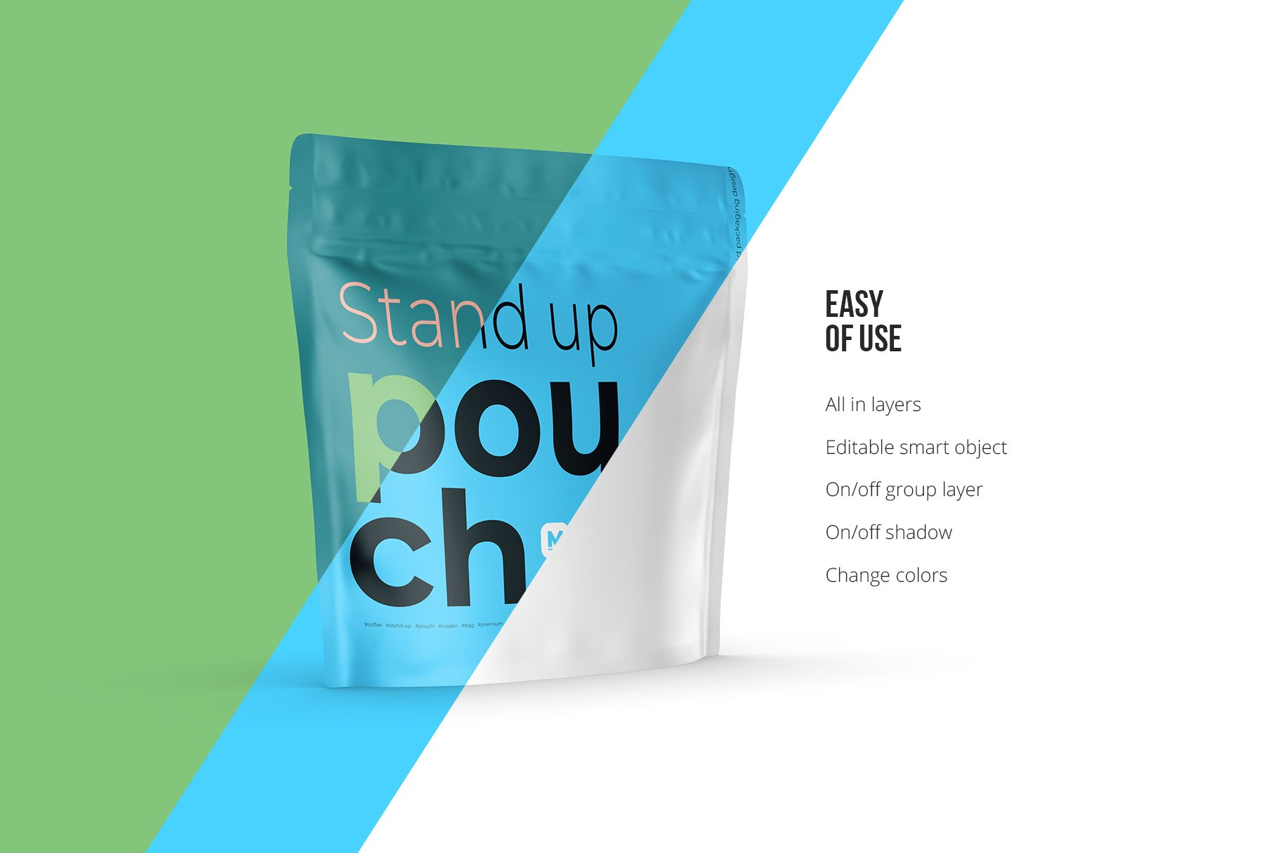 Zip Stand-up Pouch Mockup square example image 4
