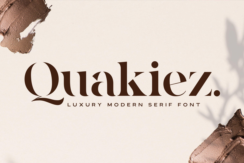 Quakiez - Luxury Modern Serif example image 1