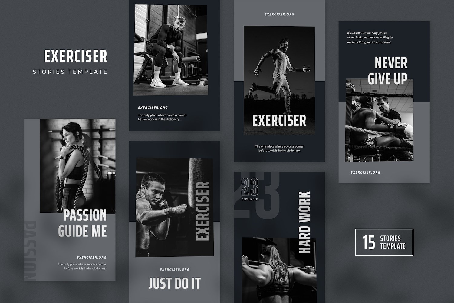 Exerciser - Gym & Fitness Instagram Stories Template example image 2