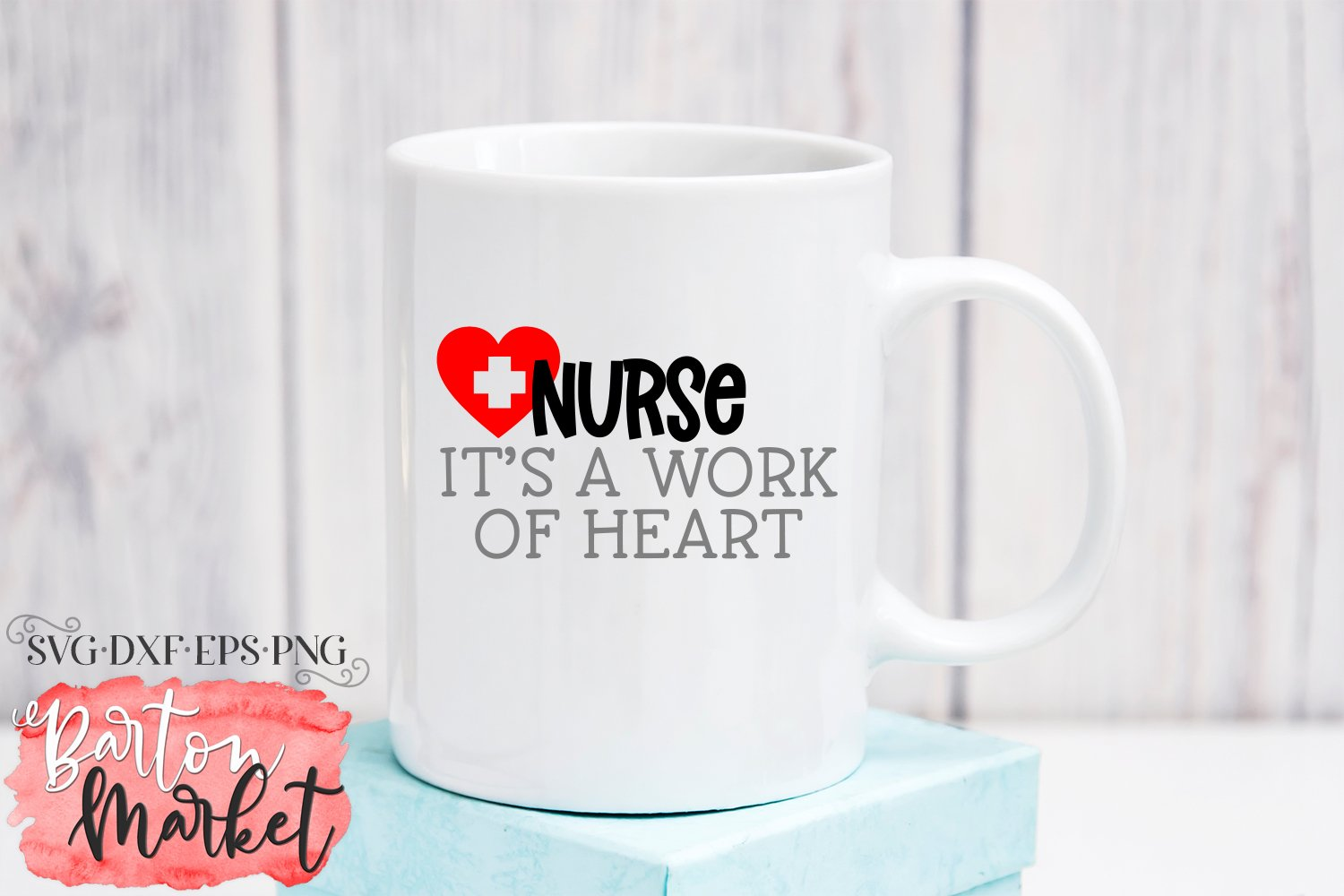 Nurse It's A Work Of Heart SVG DXF EPS PNG example image 2