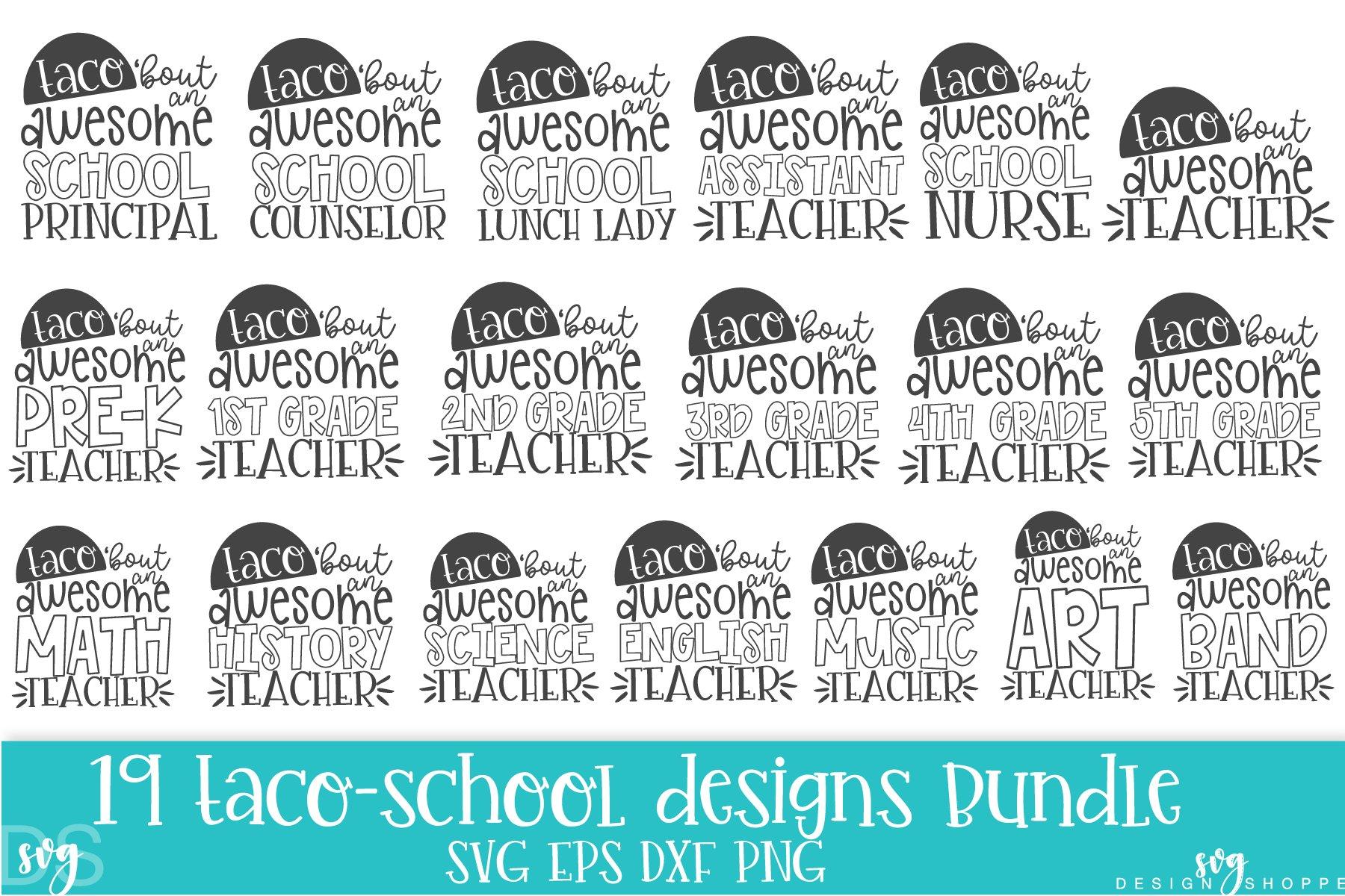 School Teacher Taco Svg Png Dxf Eps 268956 Svgs Design Bundles