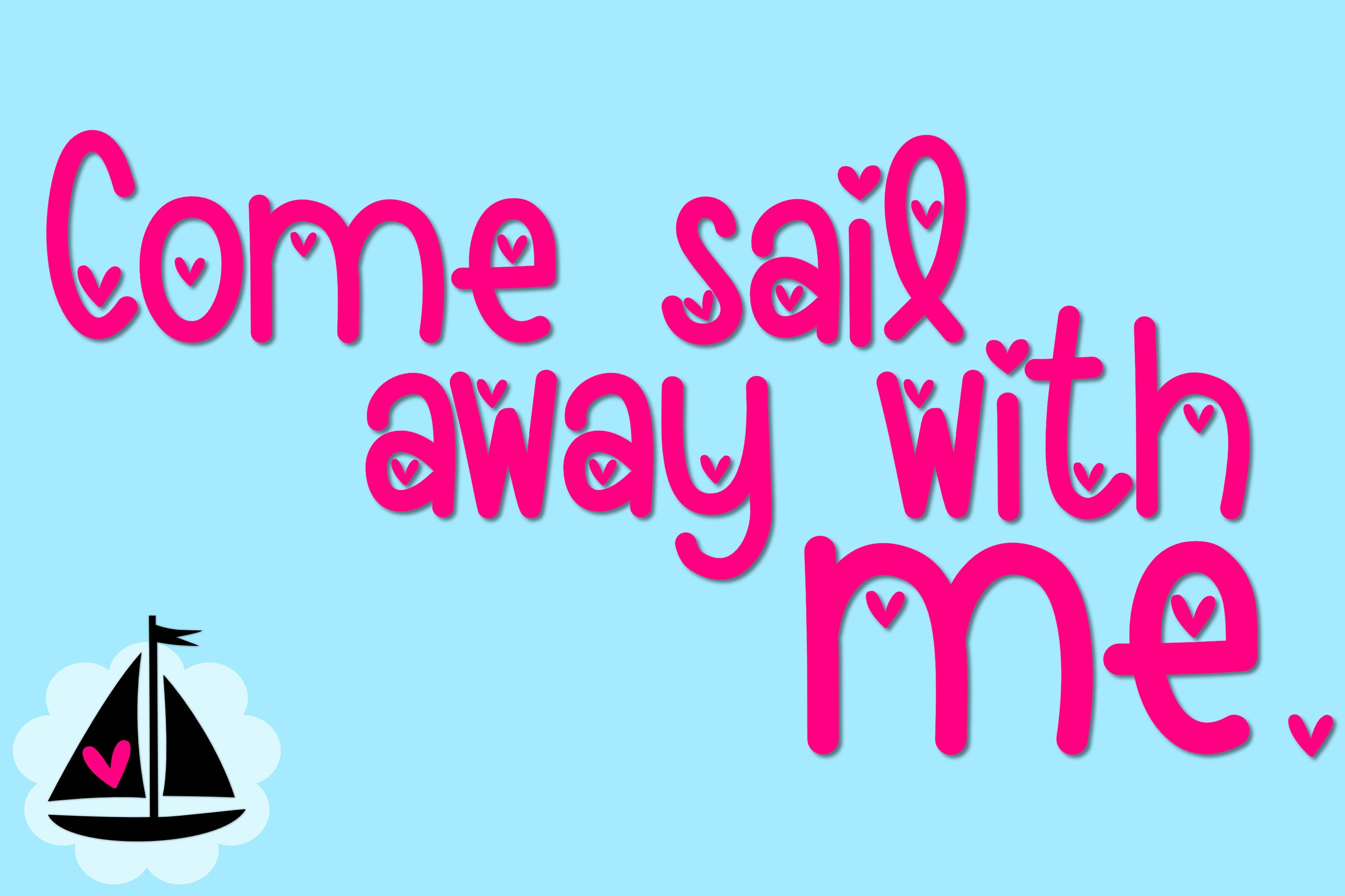 Loveboat - A Cute Font with Hearts example image 5