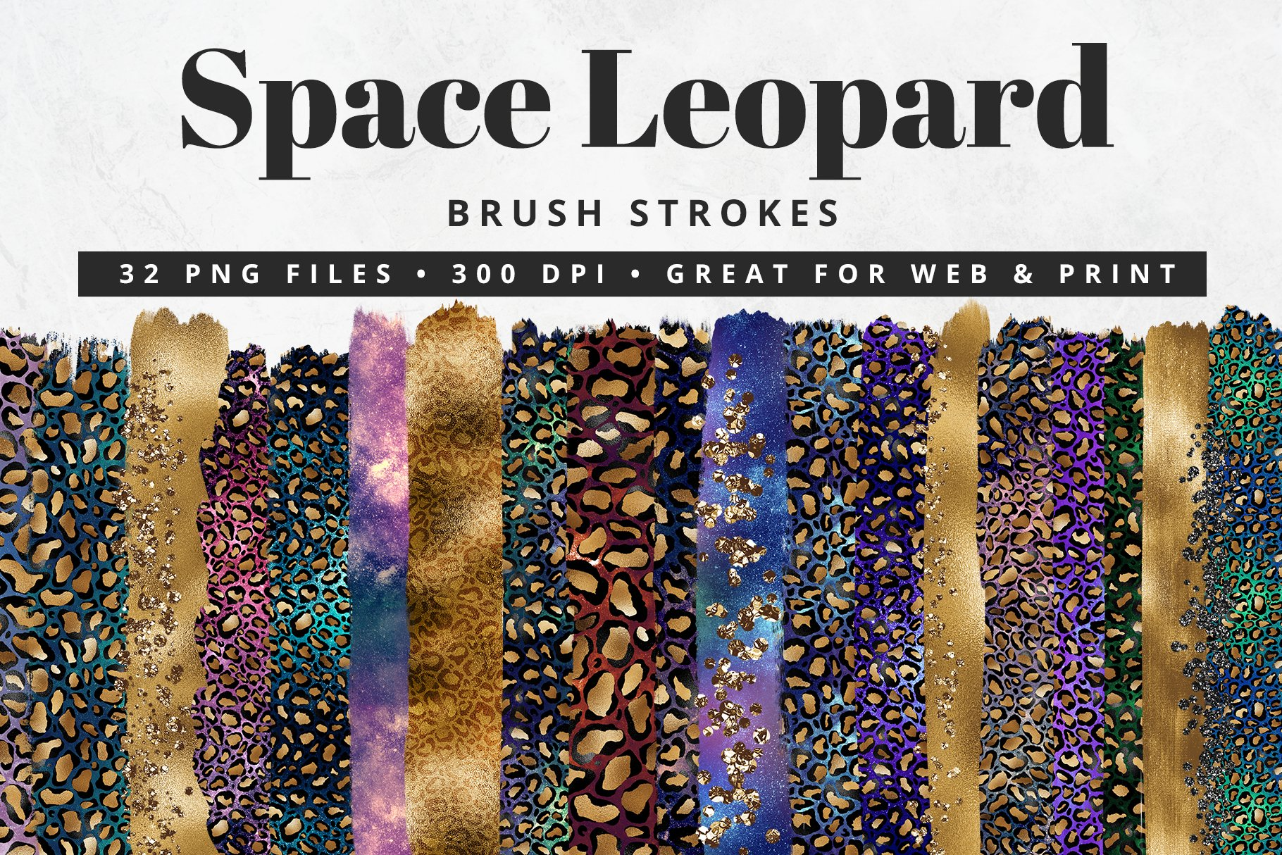 Space Leopard Brush Strokes example image 1
