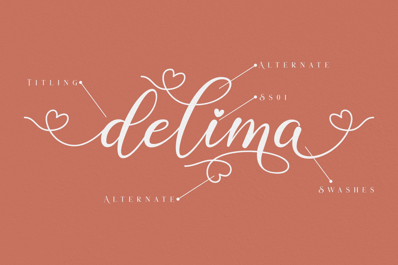 Delima // Modern Calligraphy example image 2