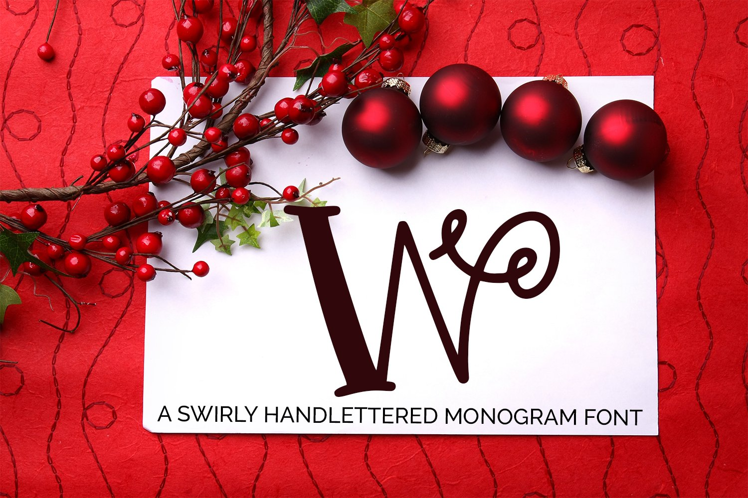 Swirly Monogram - A Hand-Lettered Font example image 1